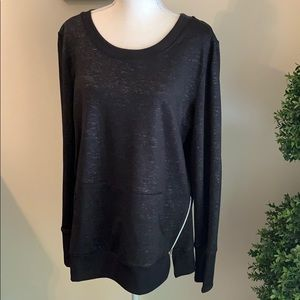 Aspire NWOT Black & Silver Sweatshirt Size XL